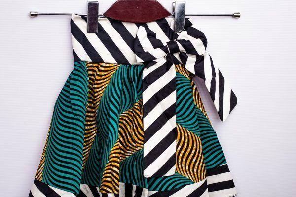 Girls High Waist Big Bow Knot Flare Skirt