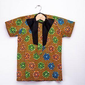 Boys African print shirt