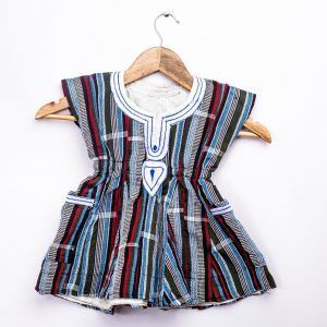 Little Girls Fugu Smock Woven Dress