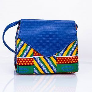 HOT SALE Ankara & Leather Combo Cross Body Bag